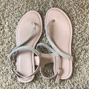 Tan Sandals with glittery strap
